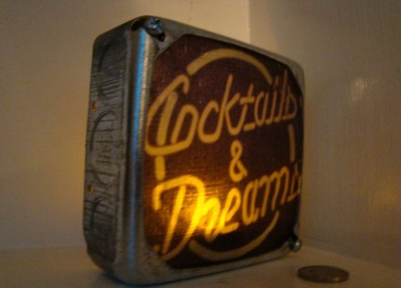 Electric Light Boxes Cocktails and Dreams by brookeanne on Etsy