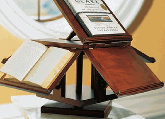 Replica of Thomas Jefferson's Invention: Revolving Bookstand