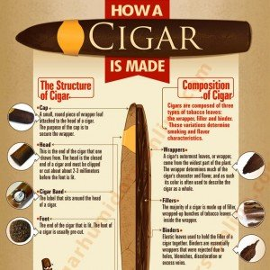 How a Cigar is Made ~ Infographic