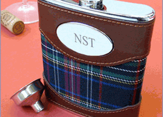 Plaid Cover Stainless Steel Flask