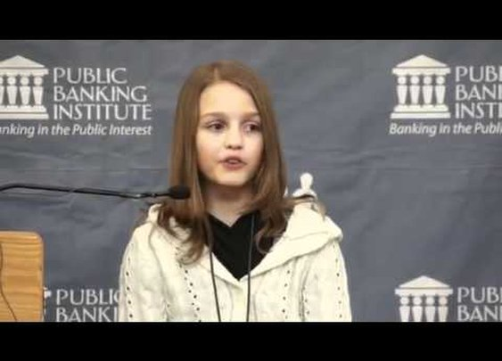12 yr old Victoria Grant explains how banks commit fraud