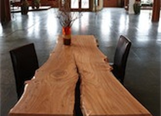 meyer | wells - Dining Table from Rough Hewn Tree