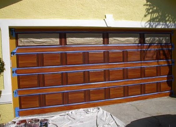 How To Paint Wood Grain On Garage Door.