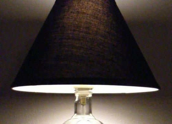 Absolute Vodka bottle lamp