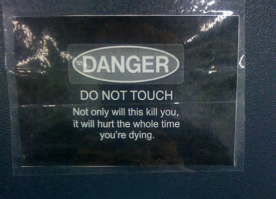 Really don't touch this!