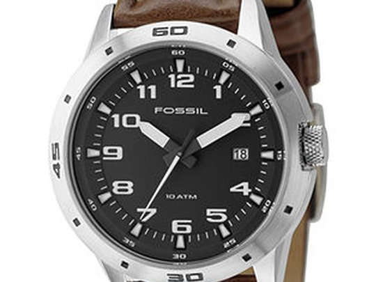Fossil - Brown Band, Black Dial
