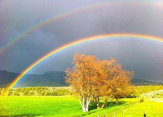 Double Rainbow over our Ranch