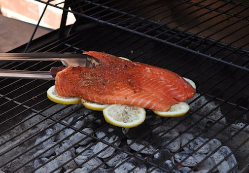 Cooking Fish On Lemons |