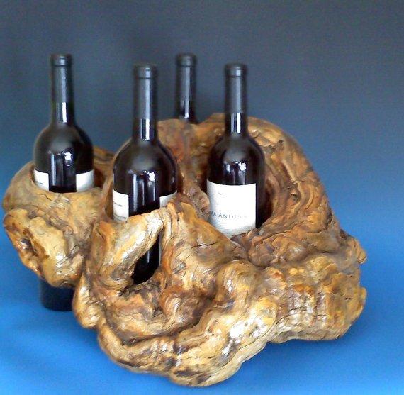 Centerpiece Wine Rack by AspenBottleHolders on Etsy