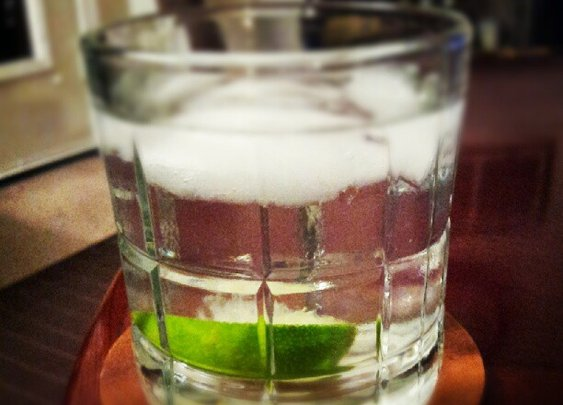 A true-gentelman's cocktail: hendrick's gin and tonic