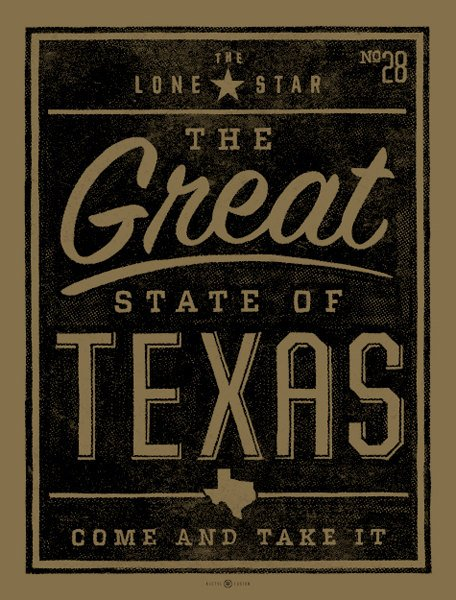 Great State of Texas art print by kollectivefusion on Etsy