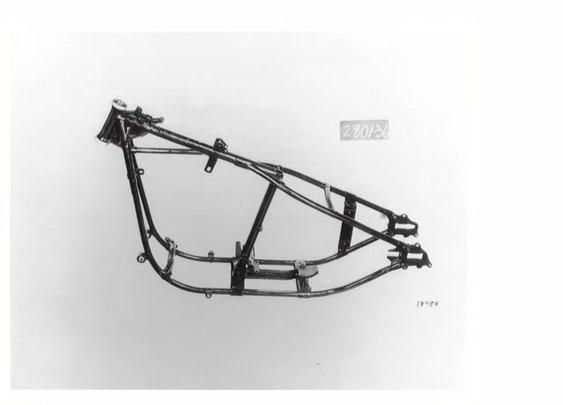 the H-D Wishbone rigid frame. Pure simplicity.