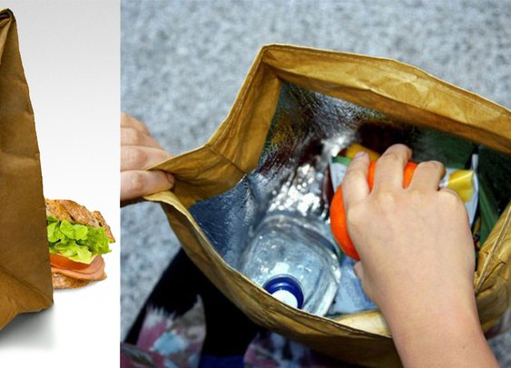 "Insulated ""Brown Paper Bag"" Lunch Bag"