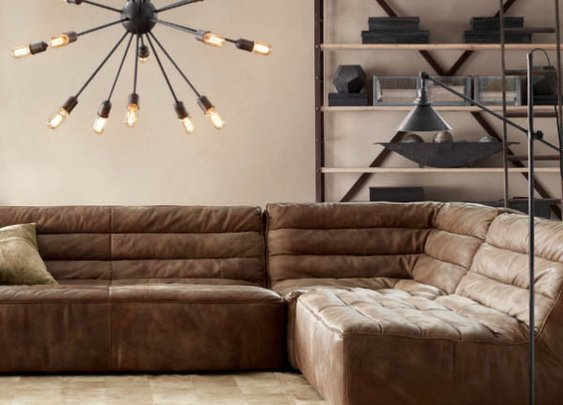 Restoration Hardware Chelsea Leather Couch | Gentleman's Gadgets | The Source of Inspiration for Modern Men