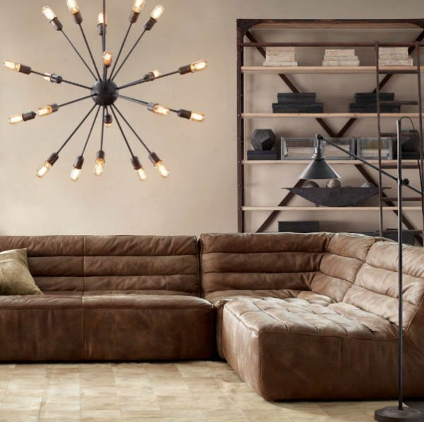 Restoration Hardware Modern: Restoration Hardware Chelsea Leather Couch