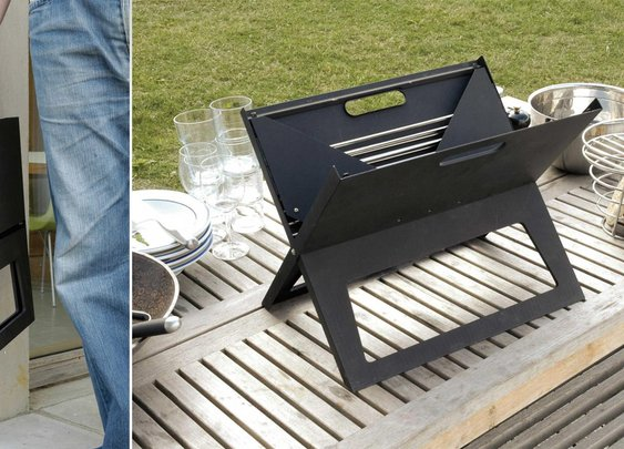 Super Portable Flat Folding Notebook Grill