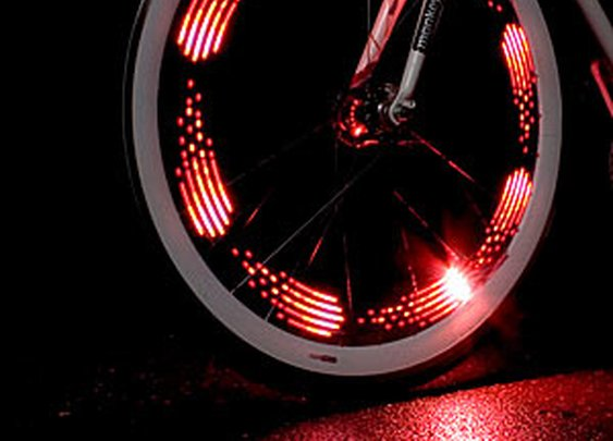 ThinkGeek :: Monkey Light 8-Bit Bike Wheel Light