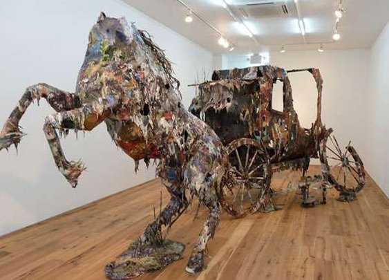 Dangerously Disheveled Sculptures - London-Based Artist Chris Jones Debuts Haunting Recycled Series (GALLERY)