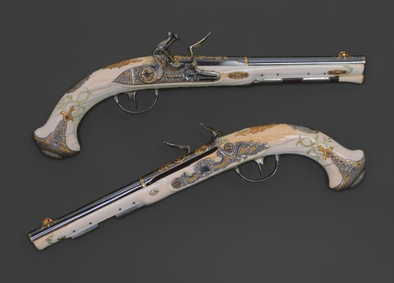 Pair of flintlock pistols of Empress Catherine the Great