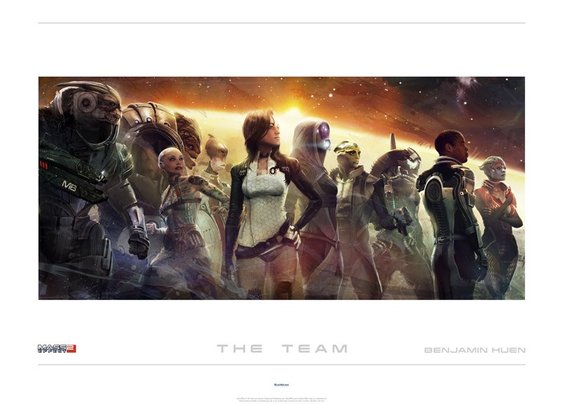 Mass Effect 2 'The Team' Lithograph by Benjamin Huen