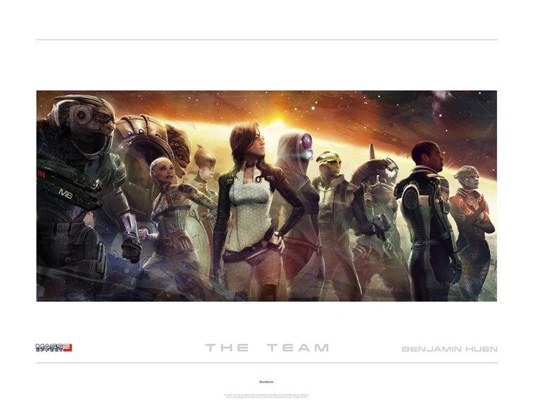 Mass Effect 2 'The Team' Lithograph by Benjamin Huen