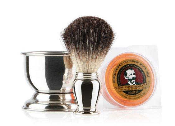 Colonel Conk Chrome Shaving Gift Set