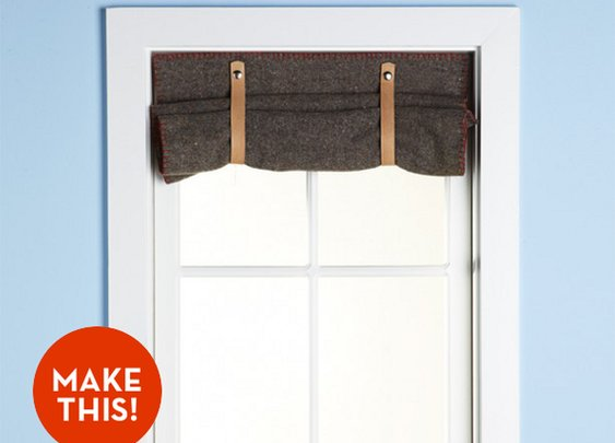 Make It: A Simple Wool Blanket Window Shade! » Curbly | DIY Design Community