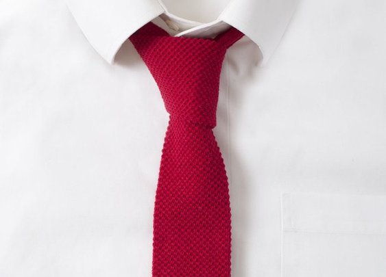 Knit Cotton Fire Red Tie - Gentlemint