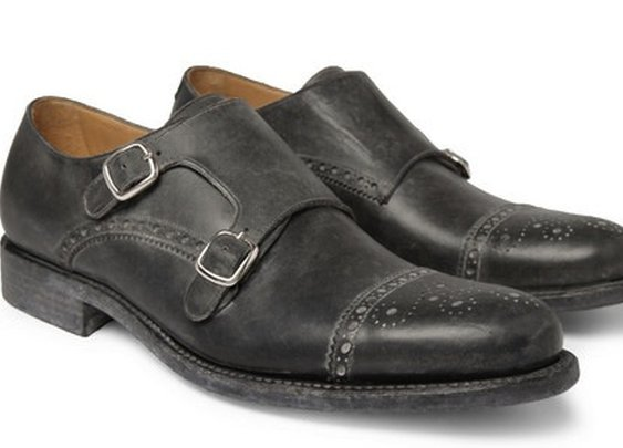 Double monk strap brogues