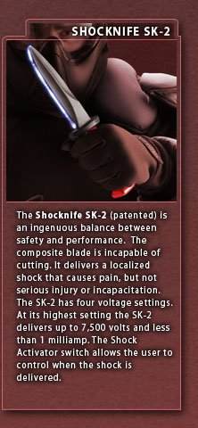 Shocknife - Tech Info