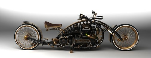 steampunkholmes: The Steampunk Holmes Motorcycle