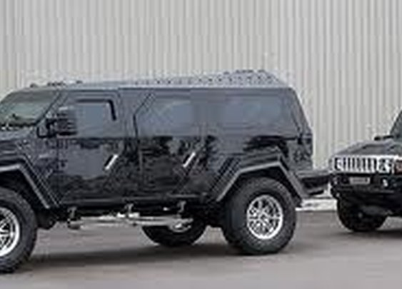 I see your Hummer H2 and raise you a Knight XV