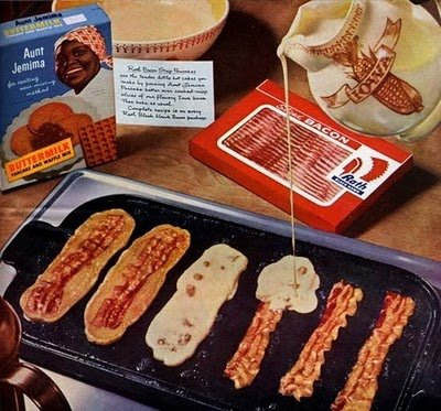 Oasis in a Gastronomic Wasteland: Random Food Photo - Bacon Pancakes