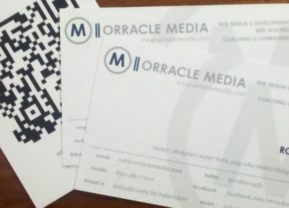 New Business Cards from Moo | Orracle Media