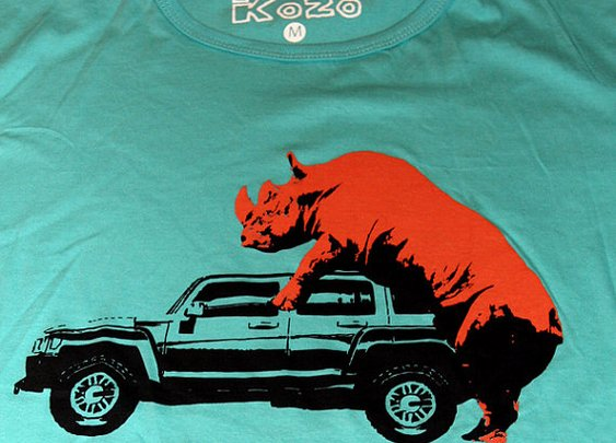 Rhino ride on jeep TShirt by kfirhadad on Etsy
