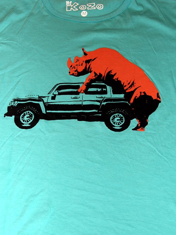 Rhino ride on jeep TShirt by kfirhadad on Etsy