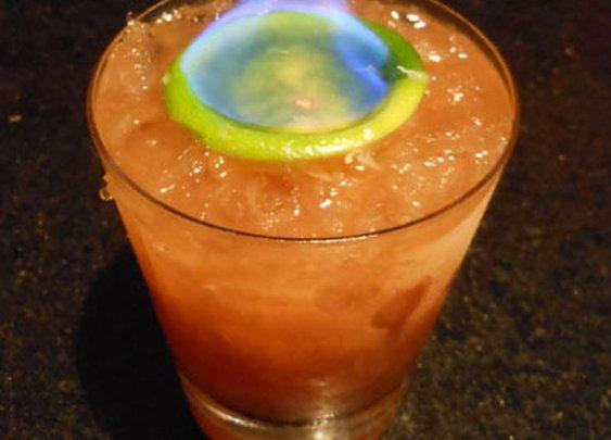 Flaming Tiki Drinks