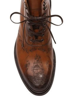 _ - sombreboite: Tan Ship Crested Leather Boots by...
