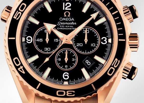 OMEGA Watches: Seamaster Planet Ocean Chrono - Red gold on red gold - 222.60.46.50.01.001
