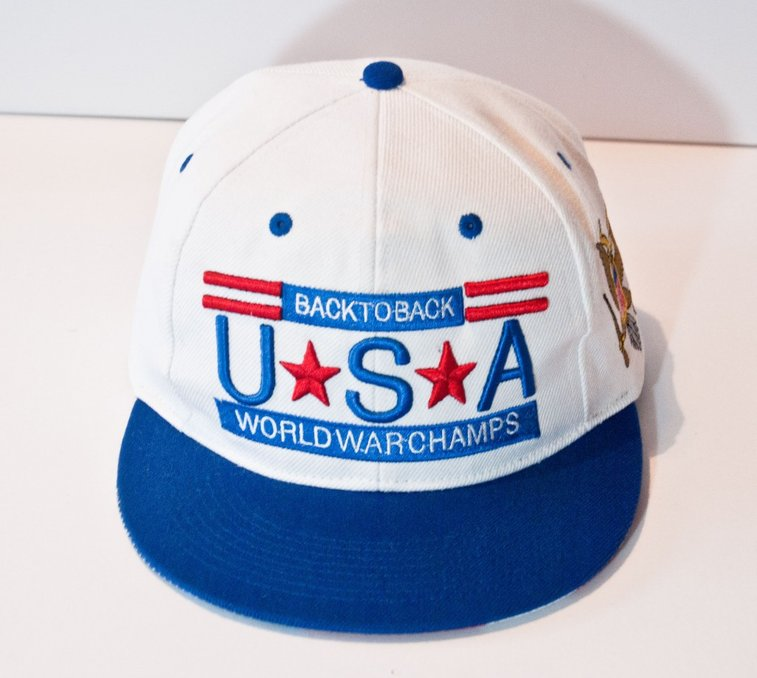 Back to Back World War Champs Snapback Hat - Natives USA  1e3ba617bbe