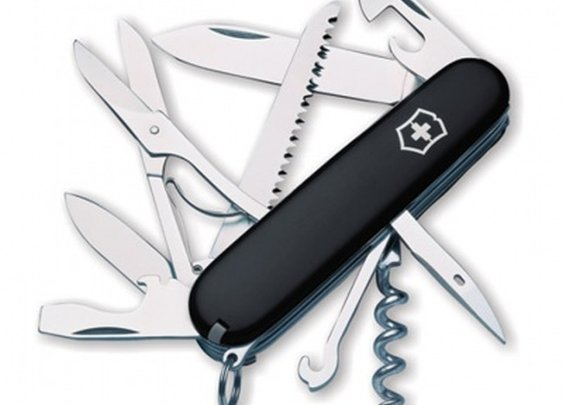 Huntsman Black Swiss Army Knife by Victorinox