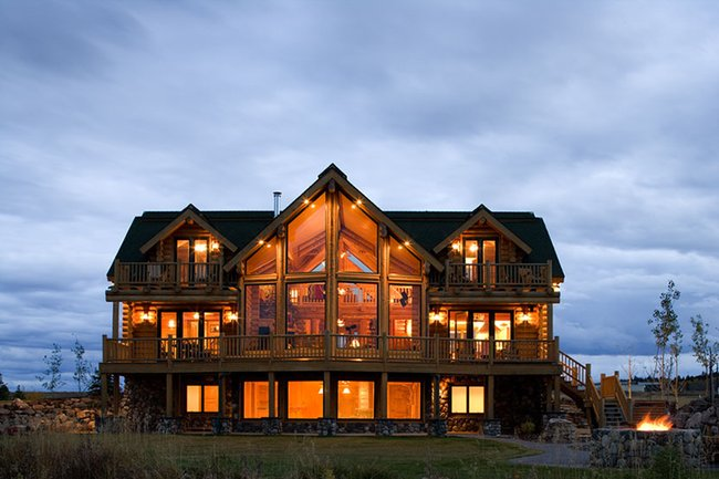 rock and log cabins - Bing Images | Gentlemint