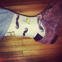 Mustache and Scotch Socks for a Classy Saturday