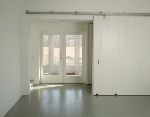 big sliding door.