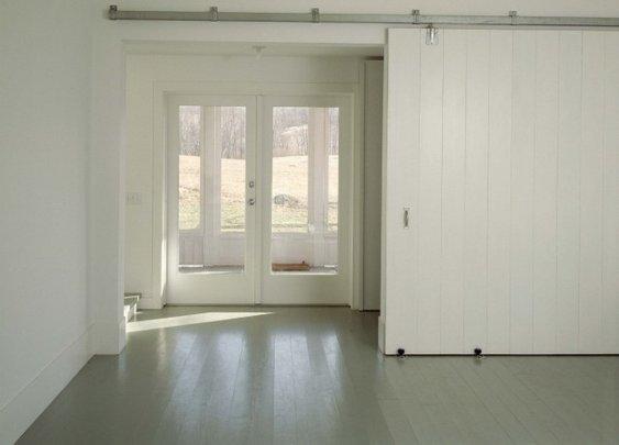 big sliding door.