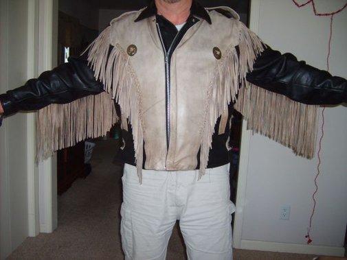 BUFFALO fringed , bi color jacket