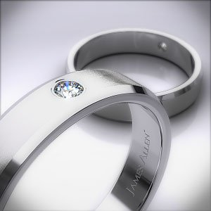 Diamond Solitaire Wedding Ring