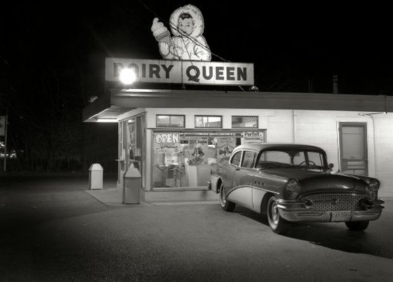 Love the old Buick in front of the Dairy Queen in 1977