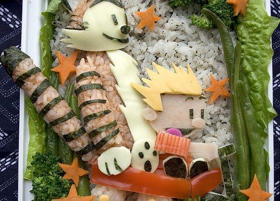 Calvin & Hobbes Bento!