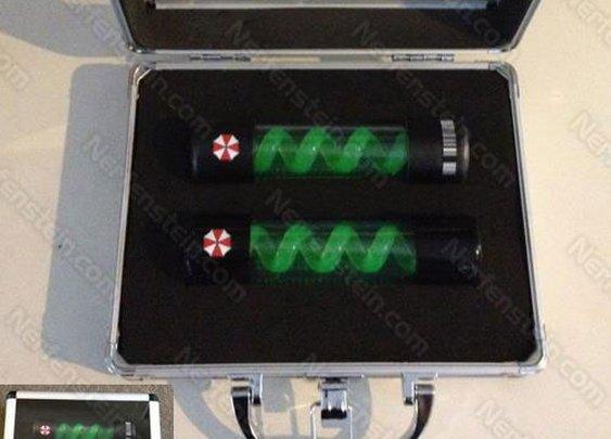 T-Virus cylinder prop case Resident Evil Umbrella Corp